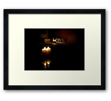Love by Candlelight Framed Print