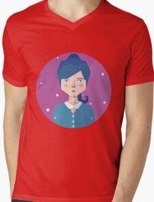 Violet Girl Mens V-Neck T-Shirt