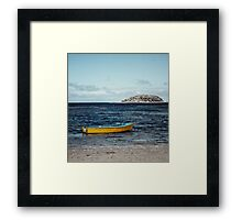 The Yellow Boat Framed Print