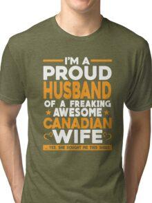 Husband,Canadian T- Shirt Tri-blend T-Shirt