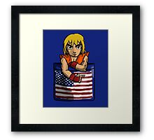 Street Fighter Pocket Pals - #2 Ken Framed Print