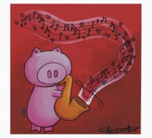 Splatter Jazz Pig Kids Tee