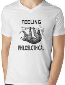 Feeling Philoslothical Mens V-Neck T-Shirt