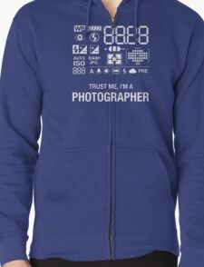Photographer Camera Photography Gift Present Funny Zipped Hoodie