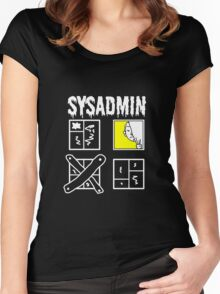 Sysadmin - System Administrator for dark apparel Women's Fitted Scoop T-Shirt
