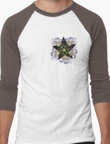 star bright(off centered) Men's Baseball ¾ T-Shirt