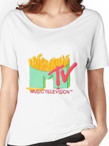 MTV & Fries Women's Relaxed Fit T-Shirt
