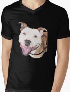 Jango - Staffordshire Bull Terrier Mens V-Neck T-Shirt