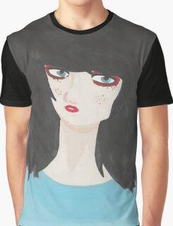 Raw edge Graphic T-Shirt