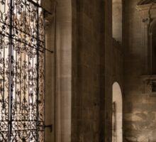 Intricate Ironwork - Lacy Wrought Iron Gates Sticker