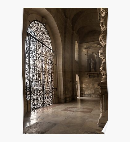 Intricate Ironwork - Lacy Wrought Iron Gates Poster