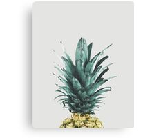 Pineapple on pink, Pineapple top, Minimal Canvas Print