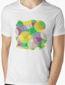 Colorful abstract geometric pattern Mens V-Neck T-Shirt