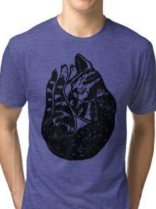 Sleeping Cat  Tri-blend T-Shirt