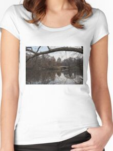 Bows and Arches - New York City Central Park Women's Fitted Scoop T-Shirt