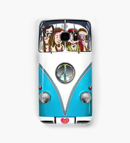 VW Hippie Van, Fully Loaded Design Samsung Galaxy Case/Skin