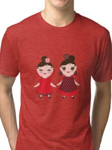 Flamencas in red and black Tri-blend T-Shirt