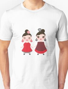 Flamencas in red and black Unisex T-Shirt