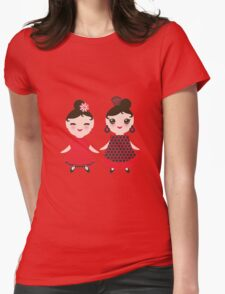 Flamencas in red and black Womens Fitted T-Shirt