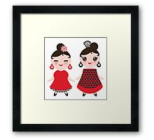 Flamencas in red and black Framed Print