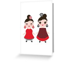 Flamencas in red and black Greeting Card