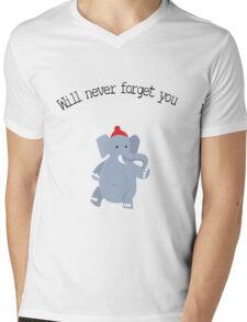 Cute Elephant never forgets Mens V-Neck T-Shirt
