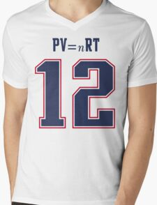 IDEAL GAS LAW - TOM BRADY, PATRIOTS, DEFLATEGATE (White) Mens V-Neck T-Shirt