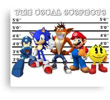 The Usual Videogames Suspects Canvas Print