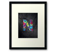 Fun Letter - N Framed Print