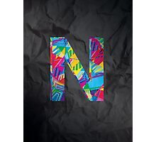 Fun Letter - N Photographic Print