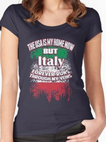 The USA and ITALY T- shirt Women's Fitted Scoop T-Shirt