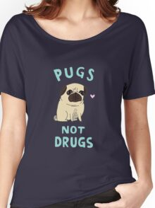 Pugs Not Drugs Women's Relaxed Fit T-Shirt