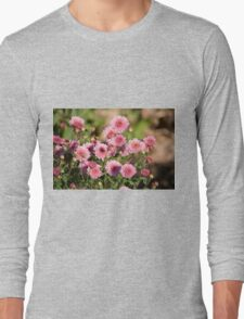 Pink Zinnias Long Sleeve T-Shirt