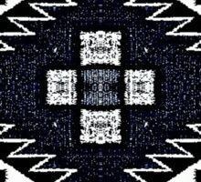 Black Navajo Denim Sticker