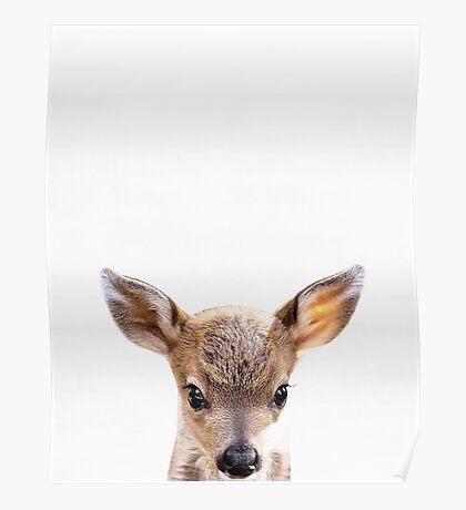 Baby deer print, Nursery, Animal, Kids room, Minimalist, Modern art, Wall art Poster