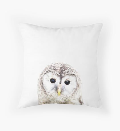 Baby owl, Nursery, Owl, Animal, Kids room, Modern art, Wall decor Throw Pillow