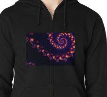 Fire Flower Vortex Zipped Hoodie