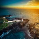 Griffiths Island Sunrise Vertical Pano by hangingpixels