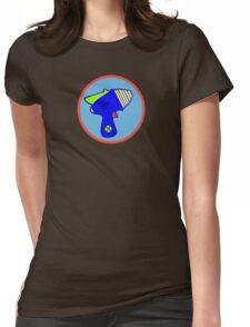 Astro Blaster Shooting Badge Womens Fitted T-Shirt