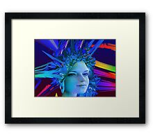 Space Crystal  Framed Print