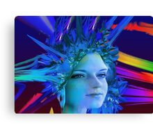 Space Crystal  Canvas Print