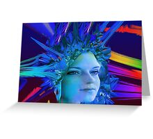 Space Crystal  Greeting Card