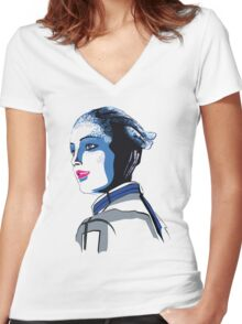 Liara T'soni Mass Effect Women's Fitted V-Neck T-Shirt
