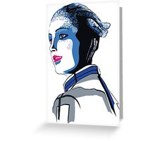 Liara T'soni Mass Effect Greeting Card