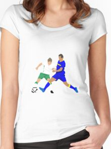 Seamus Coleman keeps Bosnia's Senad Lulic at bay Women's Fitted Scoop T-Shirt