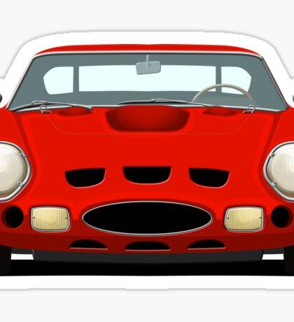Red Ferrari 250 GTO Sticker