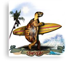 Surfing Turtle - Surf's Up! Canvas Print