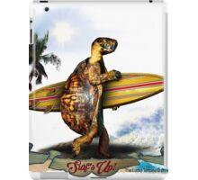 Surfing Turtle - Surf's Up! iPad Case/Skin