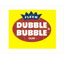 Dubble Bubble Gum Art Print