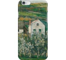 Paul Cezanne - Small Houses in Pontoise  1873 -  1874 iPhone Case/Skin